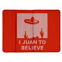 I Juan To Believe Ugly Holiday Christmas Red Background Kindle Fire (1st Gen) Flip Case