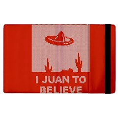 I Juan To Believe Ugly Holiday Christmas Red Background Apple iPad 2 Flip Case
