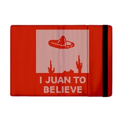 I Juan To Believe Ugly Holiday Christmas Red Background Apple iPad Mini Flip Case