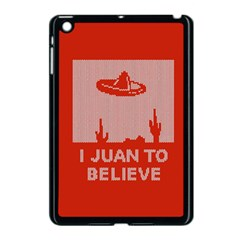 I Juan To Believe Ugly Holiday Christmas Red Background Apple iPad Mini Case (Black)