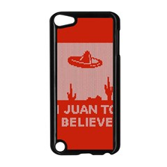 I Juan To Believe Ugly Holiday Christmas Red Background Apple iPod Touch 5 Case (Black)