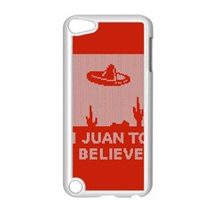 I Juan To Believe Ugly Holiday Christmas Red Background Apple Ipod Touch 5 Case (white)