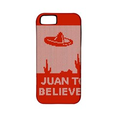 I Juan To Believe Ugly Holiday Christmas Red Background Apple iPhone 5 Classic Hardshell Case (PC+Silicone)