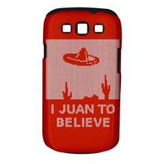 I Juan To Believe Ugly Holiday Christmas Red Background Samsung Galaxy S III Classic Hardshell Case (PC+Silicone)