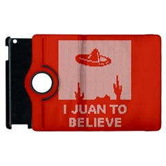 I Juan To Believe Ugly Holiday Christmas Red Background Apple iPad 3/4 Flip 360 Case