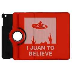 I Juan To Believe Ugly Holiday Christmas Red Background Apple iPad Mini Flip 360 Case