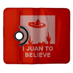 I Juan To Believe Ugly Holiday Christmas Red Background Samsung Galaxy Note II Flip 360 Case