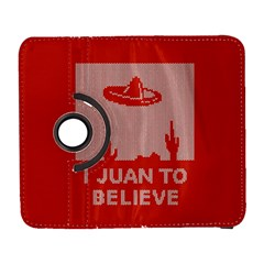 I Juan To Believe Ugly Holiday Christmas Red Background Samsung Galaxy S  III Flip 360 Case