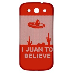 I Juan To Believe Ugly Holiday Christmas Red Background Samsung Galaxy S3 S III Classic Hardshell Back Case