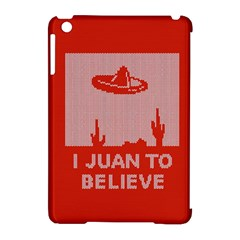 I Juan To Believe Ugly Holiday Christmas Red Background Apple iPad Mini Hardshell Case (Compatible with Smart Cover)