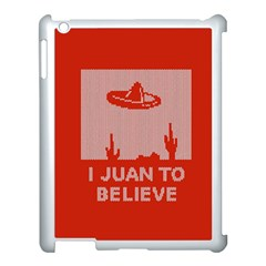I Juan To Believe Ugly Holiday Christmas Red Background Apple Ipad 3/4 Case (white)