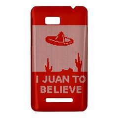 I Juan To Believe Ugly Holiday Christmas Red Background HTC One SU T528W Hardshell Case