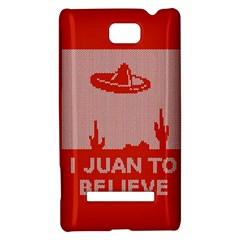 I Juan To Believe Ugly Holiday Christmas Red Background HTC 8S Hardshell Case