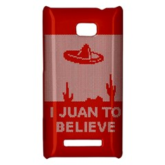 I Juan To Believe Ugly Holiday Christmas Red Background HTC 8X