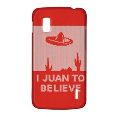 I Juan To Believe Ugly Holiday Christmas Red Background LG Nexus 4