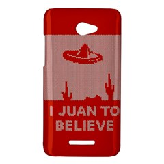 I Juan To Believe Ugly Holiday Christmas Red Background HTC Butterfly X920E Hardshell Case
