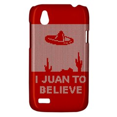 I Juan To Believe Ugly Holiday Christmas Red Background HTC Desire V (T328W) Hardshell Case