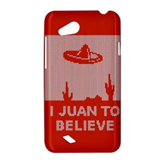 I Juan To Believe Ugly Holiday Christmas Red Background HTC Desire VC (T328D) Hardshell Case
