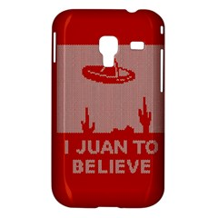 I Juan To Believe Ugly Holiday Christmas Red Background Samsung Galaxy Ace Plus S7500 Hardshell Case