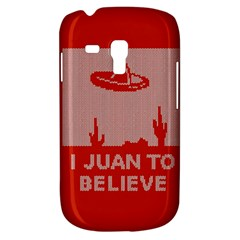 I Juan To Believe Ugly Holiday Christmas Red Background Samsung Galaxy S3 MINI I8190 Hardshell Case