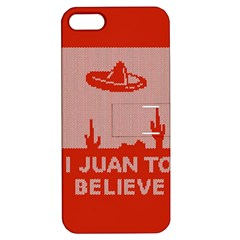 I Juan To Believe Ugly Holiday Christmas Red Background Apple iPhone 5 Hardshell Case with Stand