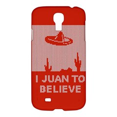 I Juan To Believe Ugly Holiday Christmas Red Background Samsung Galaxy S4 I9500/I9505 Hardshell Case