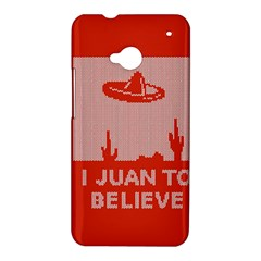 I Juan To Believe Ugly Holiday Christmas Red Background HTC One M7 Hardshell Case