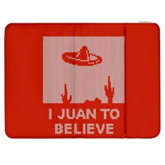 I Juan To Believe Ugly Holiday Christmas Red Background Samsung Galaxy Tab 7  P1000 Flip Case