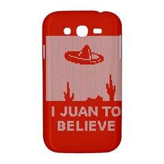 I Juan To Believe Ugly Holiday Christmas Red Background Samsung Galaxy Grand DUOS I9082 Hardshell Case