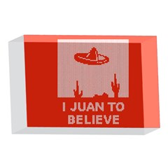 I Juan To Believe Ugly Holiday Christmas Red Background 4 x 6  Acrylic Photo Blocks
