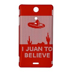 I Juan To Believe Ugly Holiday Christmas Red Background Sony Xperia TX