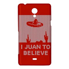 I Juan To Believe Ugly Holiday Christmas Red Background Sony Xperia T