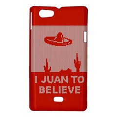 I Juan To Believe Ugly Holiday Christmas Red Background Sony Xperia Miro