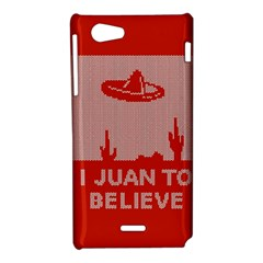 I Juan To Believe Ugly Holiday Christmas Red Background Sony Xperia J