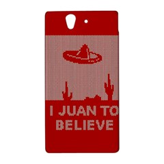 I Juan To Believe Ugly Holiday Christmas Red Background Sony Xperia Z