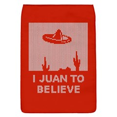 I Juan To Believe Ugly Holiday Christmas Red Background Flap Covers (S)