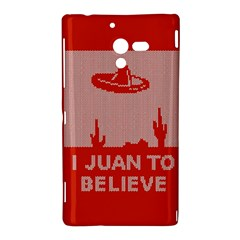 I Juan To Believe Ugly Holiday Christmas Red Background Sony Xperia ZL (L35H)