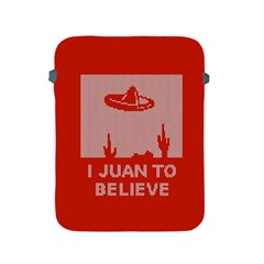 I Juan To Believe Ugly Holiday Christmas Red Background Apple iPad 2/3/4 Protective Soft Cases