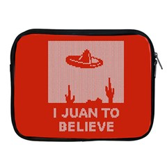 I Juan To Believe Ugly Holiday Christmas Red Background Apple iPad 2/3/4 Zipper Cases