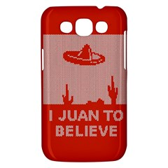 I Juan To Believe Ugly Holiday Christmas Red Background Samsung Galaxy Win I8550 Hardshell Case