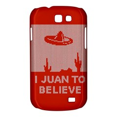 I Juan To Believe Ugly Holiday Christmas Red Background Samsung Galaxy Express I8730 Hardshell Case