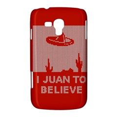 I Juan To Believe Ugly Holiday Christmas Red Background Samsung Galaxy Duos I8262 Hardshell Case