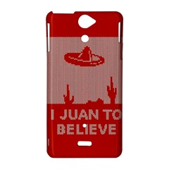 I Juan To Believe Ugly Holiday Christmas Red Background Sony Xperia V