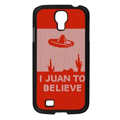 I Juan To Believe Ugly Holiday Christmas Red Background Samsung Galaxy S4 I9500/ I9505 Case (Black)