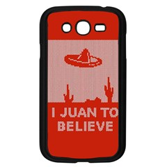 I Juan To Believe Ugly Holiday Christmas Red Background Samsung Galaxy Grand Duos I9082 Case (black)