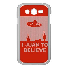 I Juan To Believe Ugly Holiday Christmas Red Background Samsung Galaxy Grand DUOS I9082 Case (White)