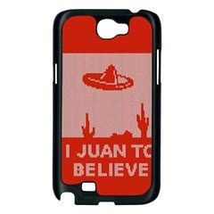 I Juan To Believe Ugly Holiday Christmas Red Background Samsung Galaxy Note 2 Case (Black)