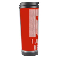 I Juan To Believe Ugly Holiday Christmas Red Background Travel Tumbler