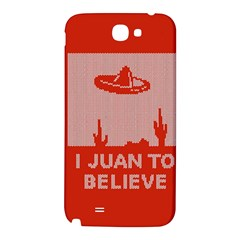 I Juan To Believe Ugly Holiday Christmas Red Background Samsung Note 2 N7100 Hardshell Back Case