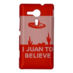 I Juan To Believe Ugly Holiday Christmas Red Background Sony Xperia SP